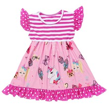Cute Baby <strong>Girls</strong> Cartoon Jojo Ruffles Party <strong>Dresses</strong> Bulk Wholesale