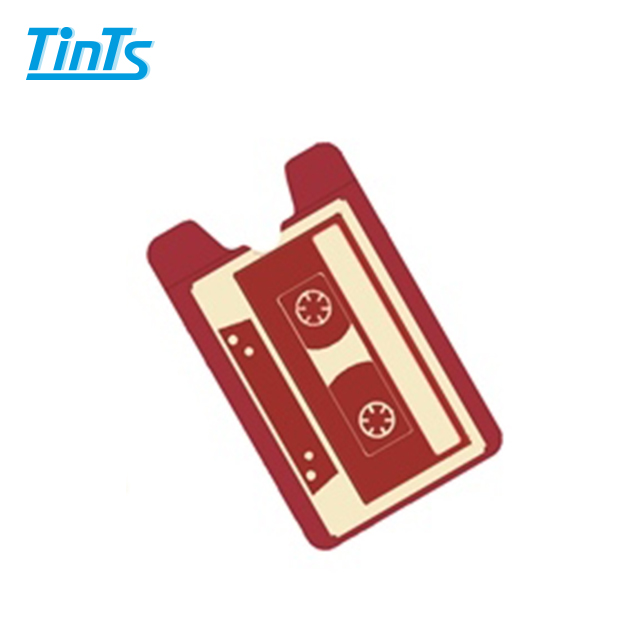 Retro Silicone Stick-on Phone Wallet