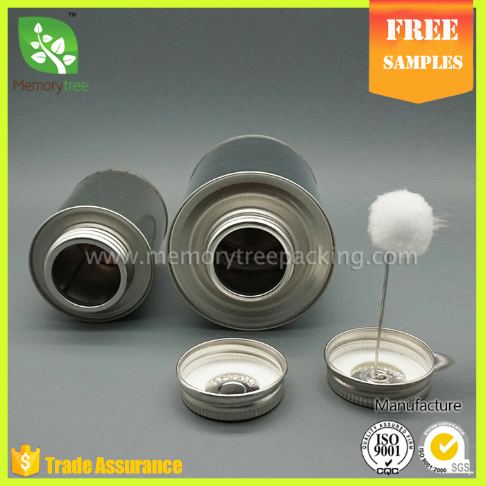 cheap round mini pvc glue tin can screw top and brush