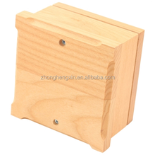Small eco-friendly cremation ashes wooden indoor decorative urn