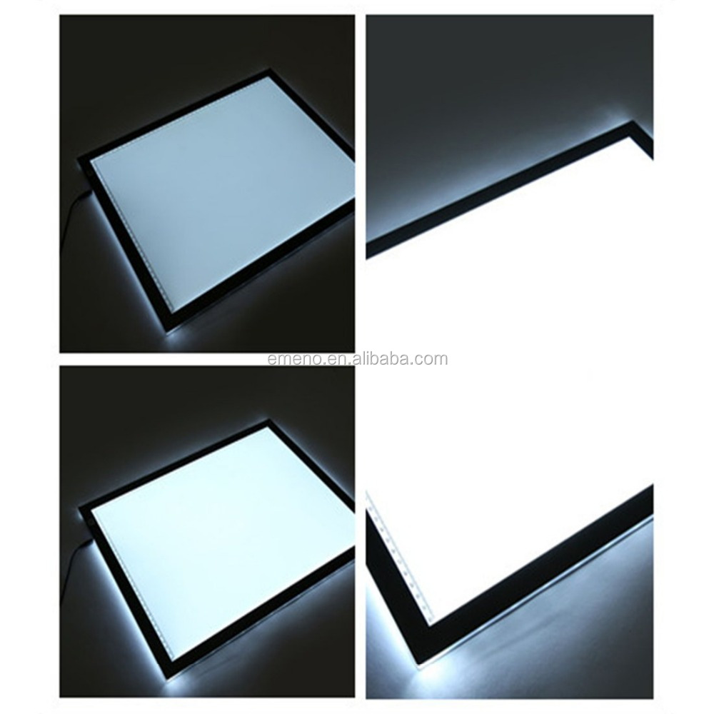 "Emeno A3 LED Super Slim Light Tracer Artcraft Tracing Light Pad Light Box - 12.20"" X 16.93"" with Acrylics"