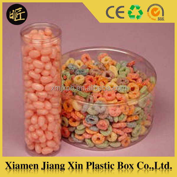Food grade plastic container cylinder tube box