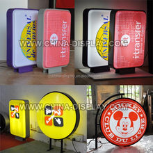 outdoor round vacuum thermoformed advertising led light box silk screen printing led light box shop sign light box