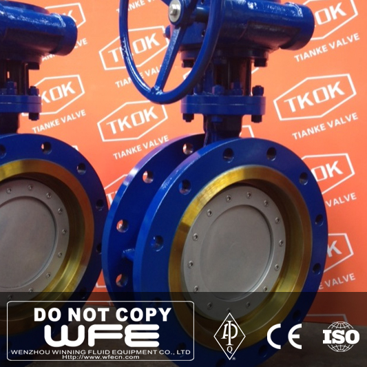 Cast Steel Eccentric Buttterfly Flange Wafer Butterfly Valve