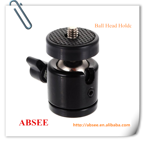 Hot-shoe Metal micro MINI Ball Head with 1/4 screw for video, camera mount
