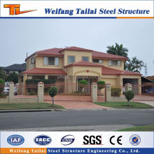luxury design and drawing metal building materials prefab steel structure villa