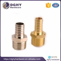 Custom-made OEM precision CNC machining brass housing fitting thread brass turning parts