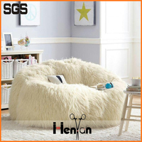 custom printed sheepskin ice cream bean bag chair