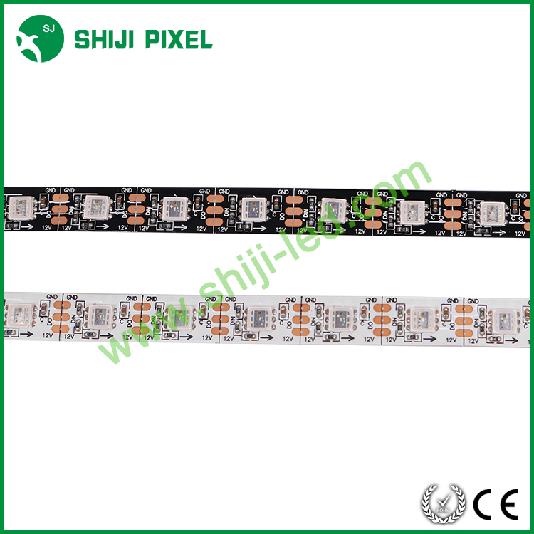 addressable DC12V white /black pcb digital led strip SJ1211