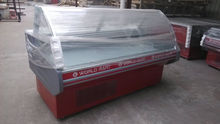 Refrigerated serve over counter used meat display refrigerator