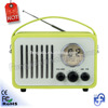 Micro USB/FM Radio Speaker Music Player Portable Retro Clock Radio