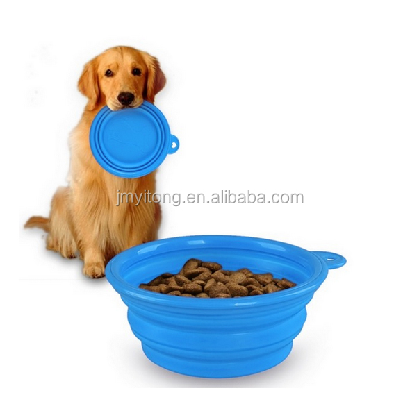 2016 yitong hot sale Collapsible Silicone Pet Feeder,High Quality Dog Bowl metal hook private label