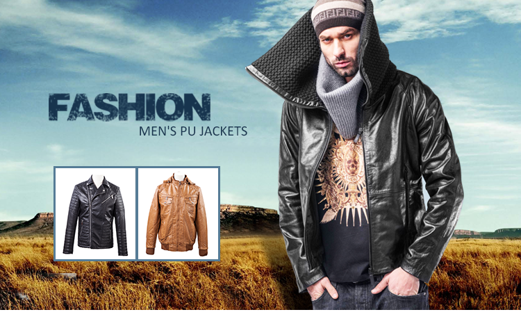 Chonghan Factory New Arrival Customized Black Men Pu Leather Jacket