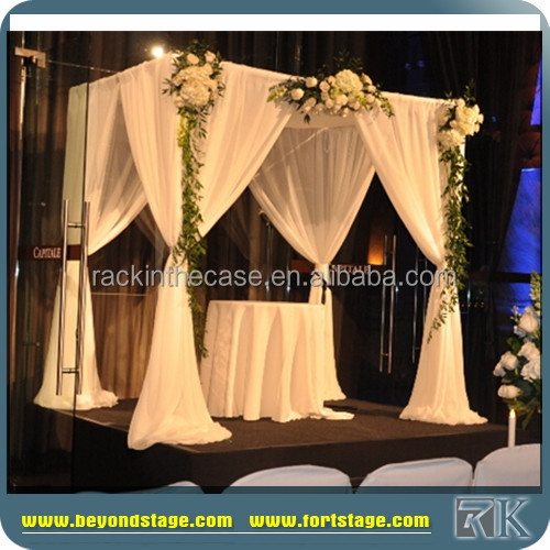 backdrop pipe and drape for wedding/crystal mandap /fiber wedding mandap decoration