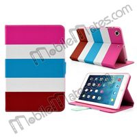 Colorful Stripe Magnetic Stand Flip Leather Case for iPad Mini 2 Retina/iPad Mini Book Style Cover