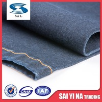 Raw and recycled cotton denim fabric