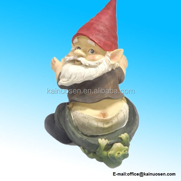 Tree Hugging Gnome Novelty Resin Bird Feeder Assorted