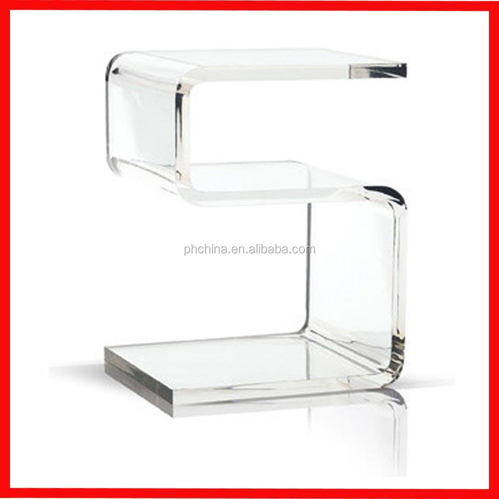 PH--AFT016 크리스탈 클리어 아크릴 테이블/책상, 현대 커피 테이블 ...