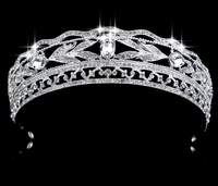 Wedding Bridal Tiara Rhinestone Crystal Crown Princess Pageant Prom Silver Hairband Tiara Accessories