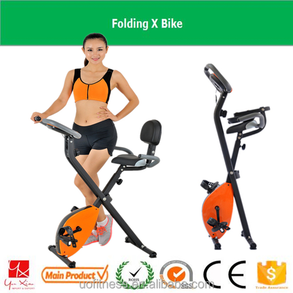 2016 factory supply indoor gym health fitness Folding X magnetic exercise bike for home use