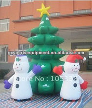 backyard decora tree, Christmas decoration, x-mas tree+blower, wholesale/retail