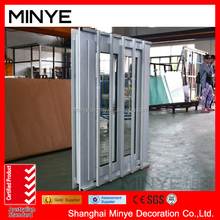 security UPVC residential glass sliding window with window sleeve /frame outside