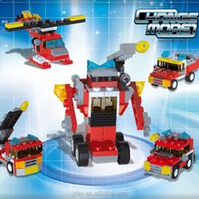 Fire Fighting Toys 5 in 1 Trans Robot Building Blocks Toys