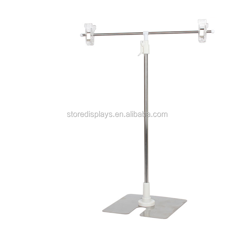 Metal Adjustable Table Poster Display Banner Stand for A3, A4 Poster Tabletop Display, double sided poster display stand