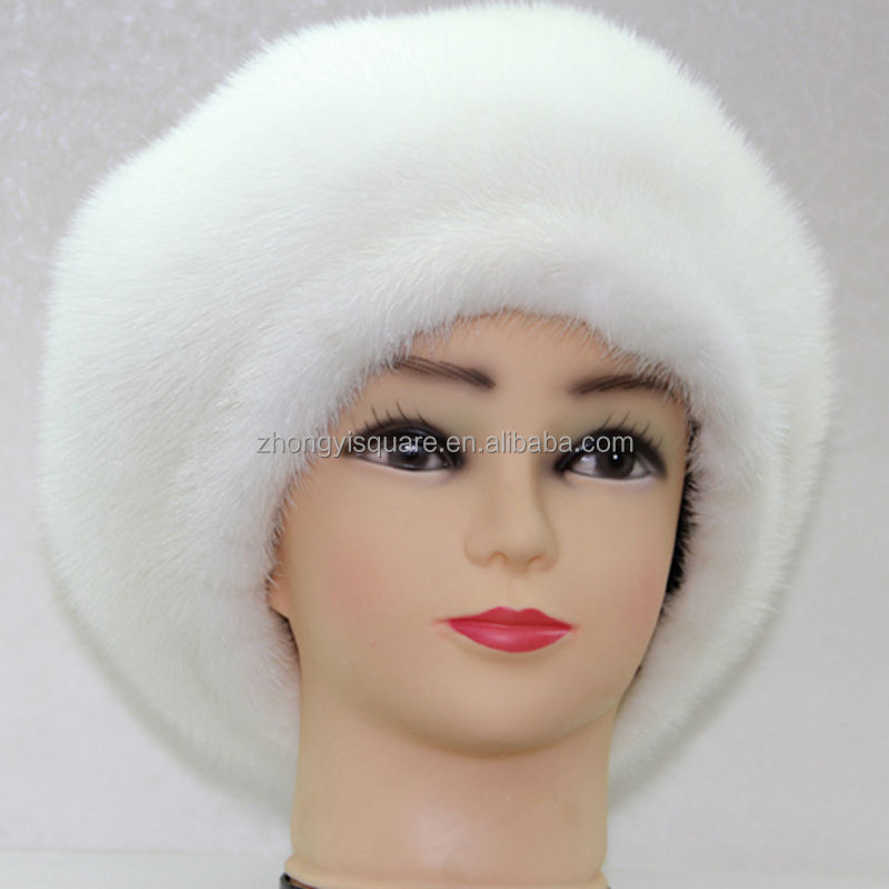 2015 China hats wholesale pretty women winter hat marten fur