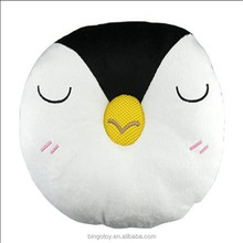 High Quality plush penguin face animal pillow soft animal shaped pillows