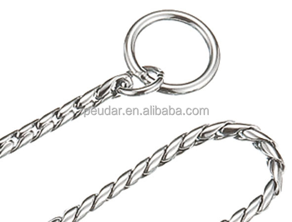 Snake Collar and Leash Choke Chain Pet Supply