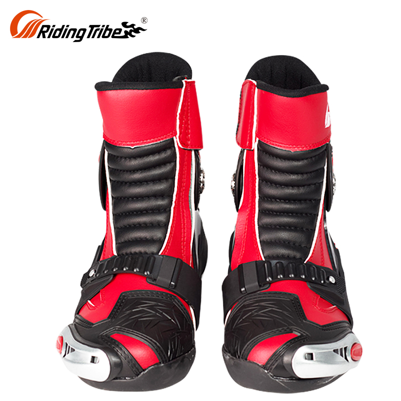 White Sportbike Footwear Racing Riding Mens Short Bike Motorcycle Boots