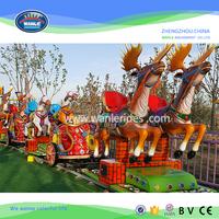 Wanle Amusement Kids Playground park electric tourist track train ride