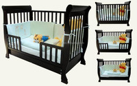 W-BB-65 solid wood convertible 3 in 1 baby crib