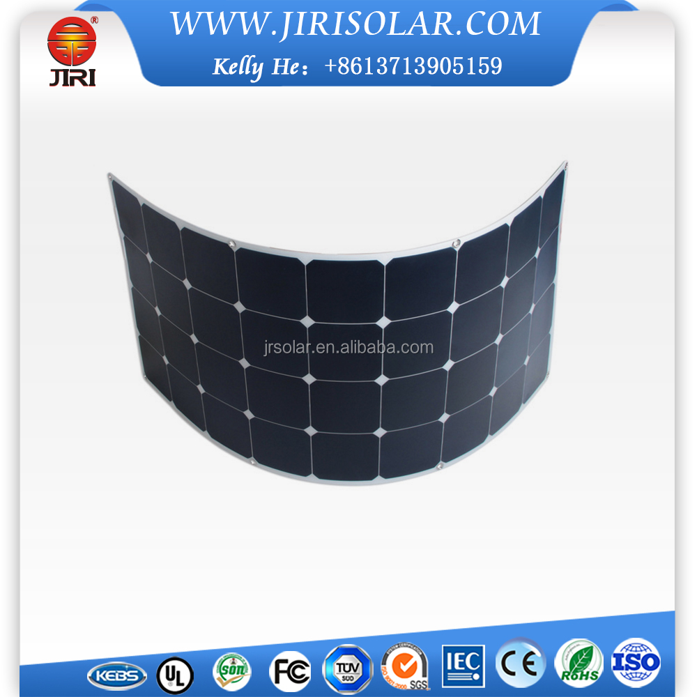 23% High Efficiency 60W Sunpower Cells Semi Flexible Solar Panel With Back Contact