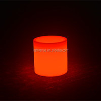 Special Design Decorative Lighted Outdoor Flower Pots,pole light led planter