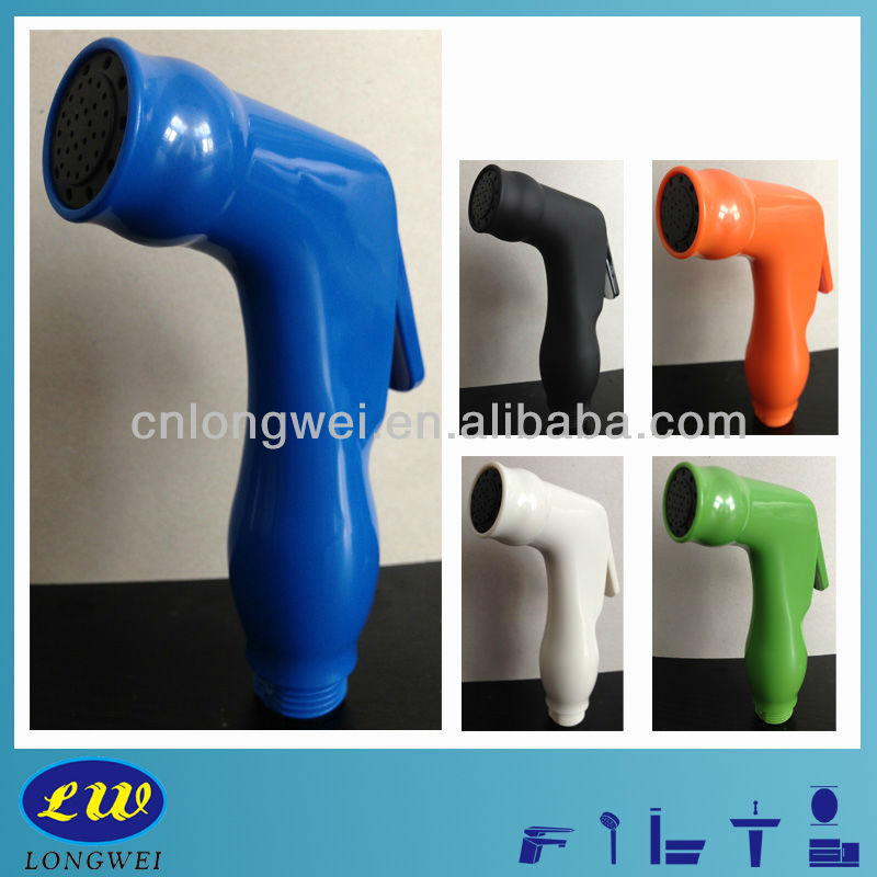 2-Funtions Plastic Blue Highgloss Spray Gun for bathroon shower LWF-3A-U
