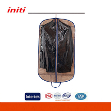 2017 Hot sale non-woven clear garment bags customized suit cover bag