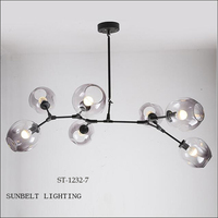 ST-1232-7 sunbelt colored glass hanging lamp,hand blown glass lamp,colored glass ceiling lamps.