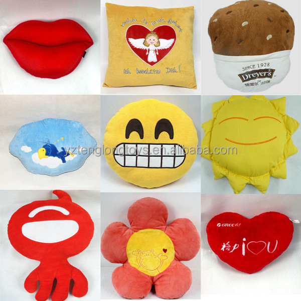 2014 promotion gift customized different shapes of pillows