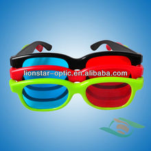 Suitable for watching movies at home red blue 3d plastic frame glasses
