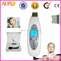 Au-006 Portable LCD skin scrubber beauty equipment / Ultrasonic sonic facial skin cleaner / ultrasonic skin scrubber portable