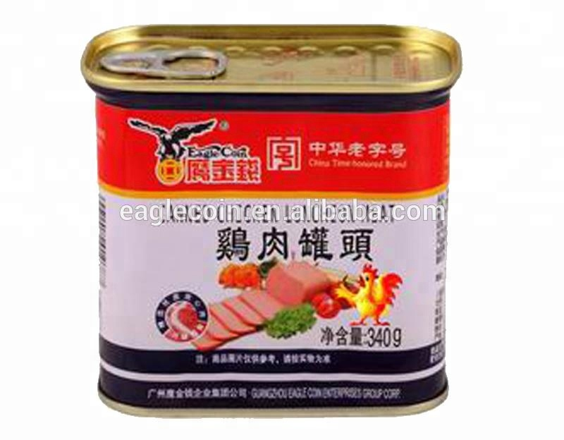 Halal Canned Food Canned Chicken Luncheon Meat 340g