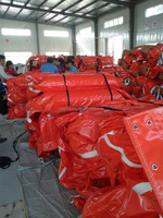 PVC oil resistant oil spill boom high effective inflatable lowest price