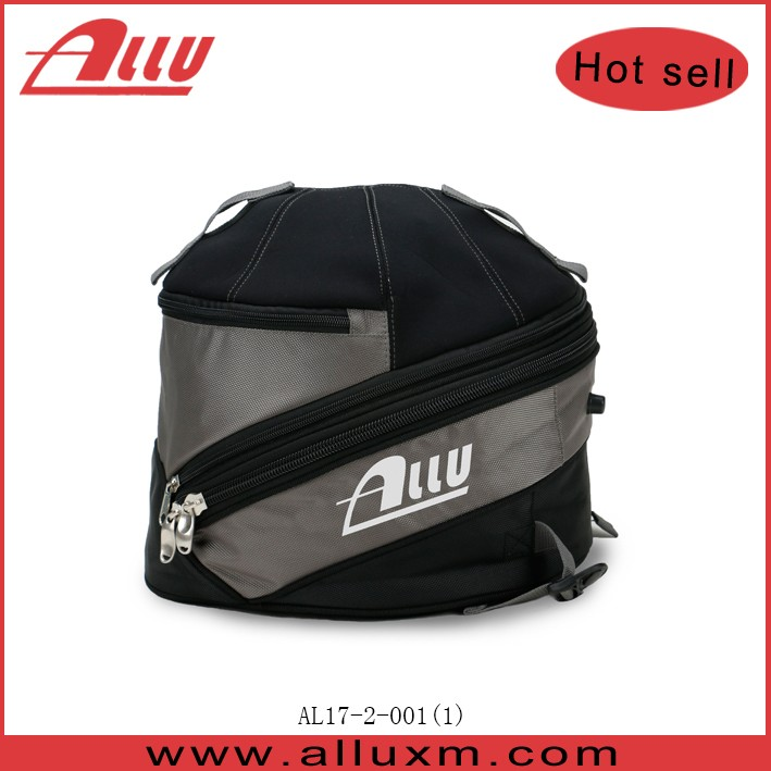 Grey waterproof racing helmet bag