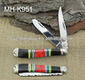 Beautiful color stone handle pocket knife