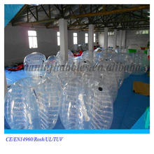 inflatable bubble suit TPU human bouncy ball for kids and adults with new production method inflatable glass bubble ball