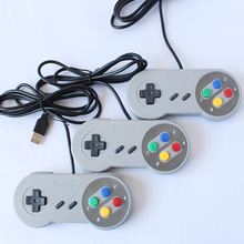 2017 Classic Retro USB Game Controller for Nitendo SNES support Windows PC/MAC/Android TV BOX In Grey &Purple