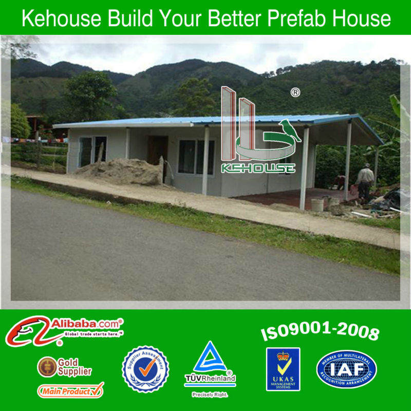 Chinese firm light steel structure pre manufactured homes/ galvanized steel construction house