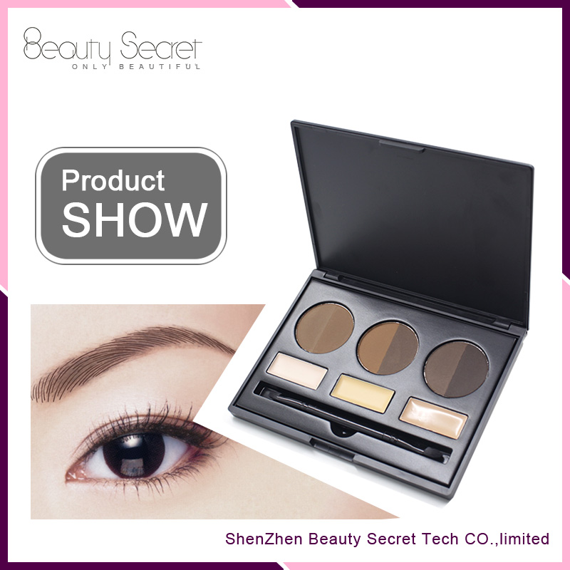 High pigment waterproof 9 color eyebrow powder palette kit private logo